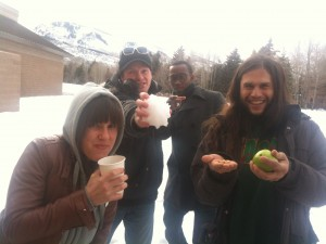 Cami, David, Kenny, and Agustin in Park City