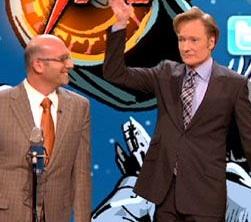 Jason Neulander with Conan on Conan