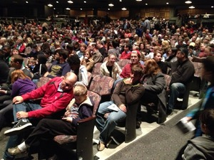 1400 people at the Wexner Center in Columbus OH