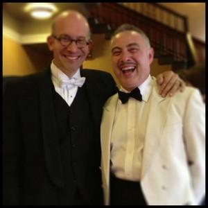 Jason with Tony Reekie, Imaginate Festival producer
