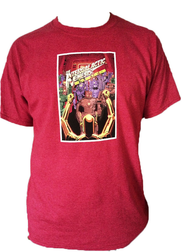 Robot Planet Rising Unisex T-Shirt
